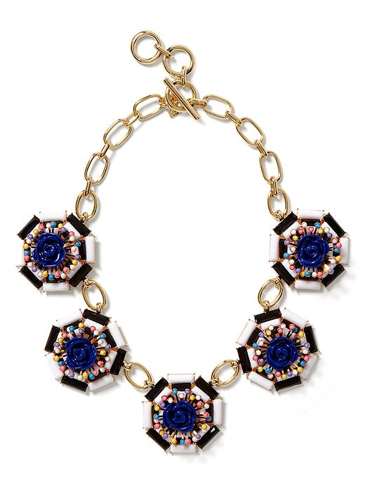 Banana Republic Neo Floral Statement Necklace - Multi color - Banana Republic Canada