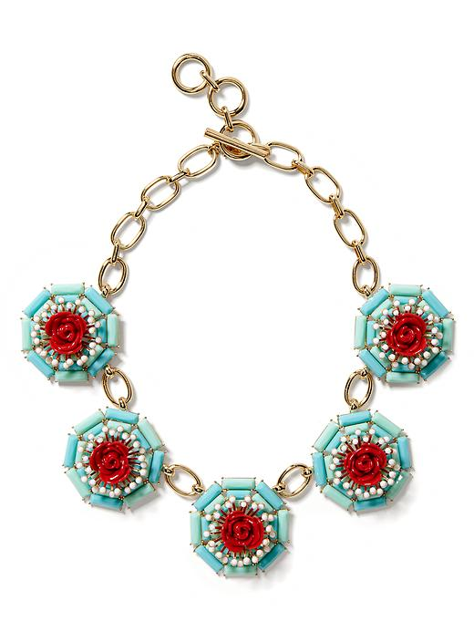 Banana Republic Neo Floral Statement Necklace - Mint - Banana Republic Canada