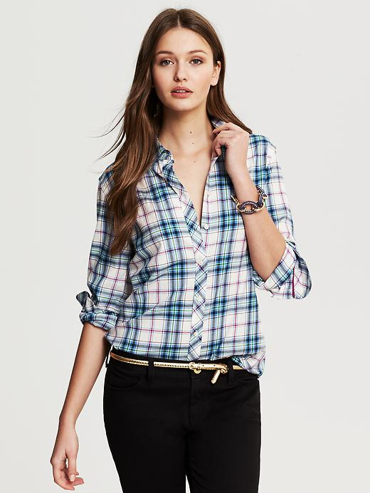 Banana Republic Blue Flannel Shirt - Bella blue - Banana Republic Canada