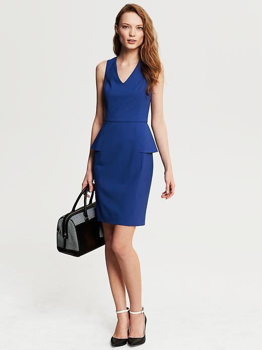 Banana Republic Cobalt Lightweight Wool Peplum Dress - Cobalt blue - Banana Republic Canada