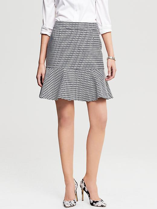 Banana Republic Chain Print Flounce Skirt - True navy - Banana Republic Canada