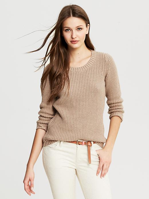 Banana Republic Textured Pullover - Pebble - Banana Republic Canada