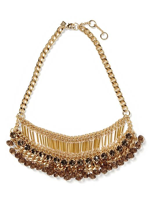 Banana Republic Stine Fringe Necklace - Gold - Banana Republic Canada
