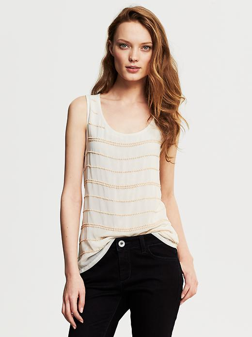 Banana Republic Beaded Stripe Tank - Cocoon - Banana Republic Canada