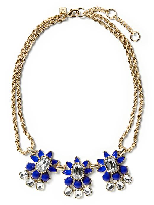 Banana Republic Petite Floral Necklace - Navy - Banana Republic Canada