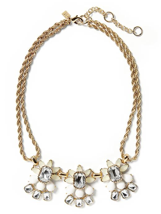Banana Republic Petite Floral Necklace - Ivory - Banana Republic Canada