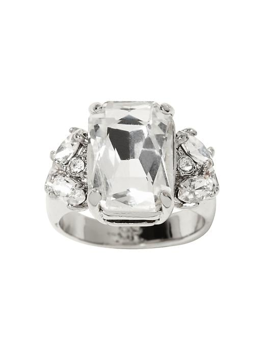 Banana Republic Acid Brights Cocktail Ring - Clear crystal - Banana Republic Canada