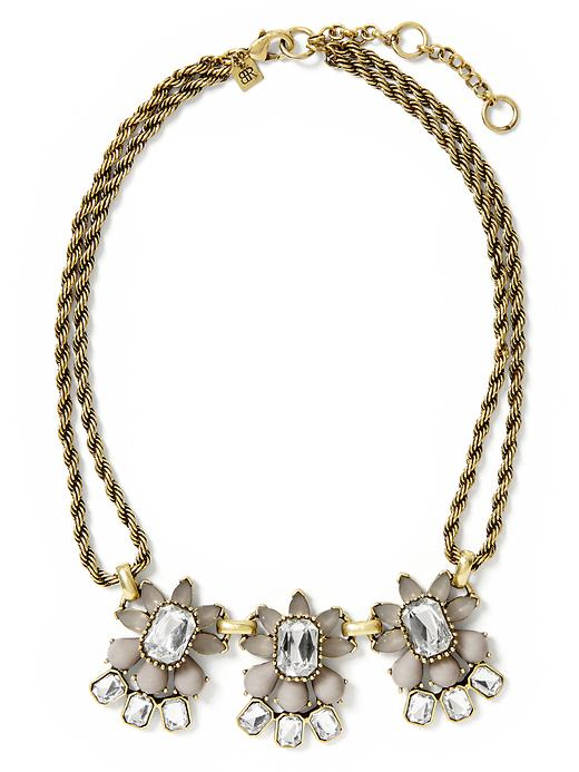 Banana Republic Petite Floral Necklace - Grey - Banana Republic Canada