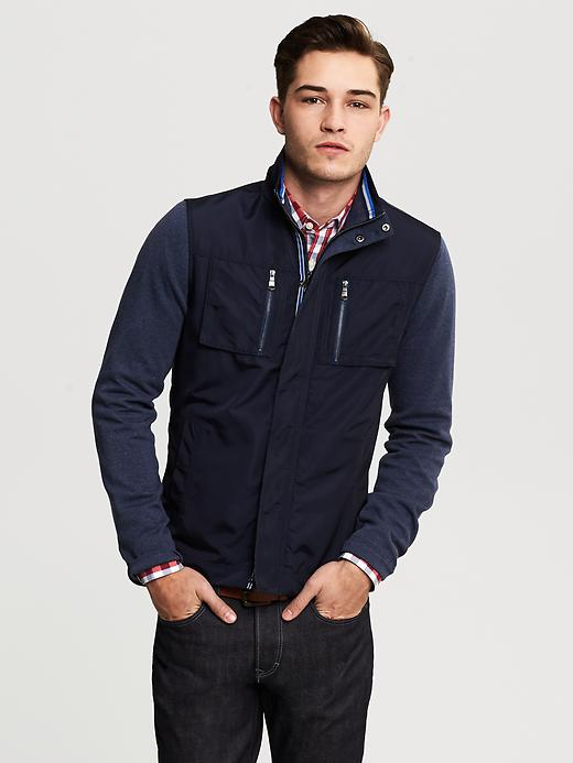 Banana Republic Blue Hybrid Jacket - Blue fade - Banana Republic Canada