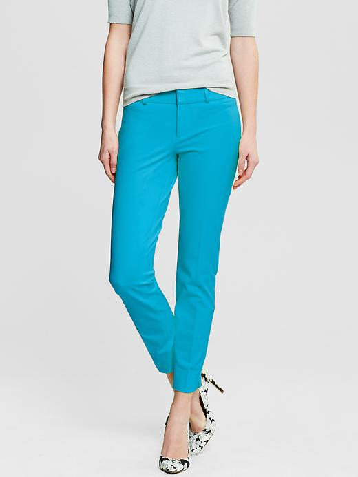 Banana Republic Sloan Fit Slim Ankle Pant - Totally turquoise - Banana Republic Canada