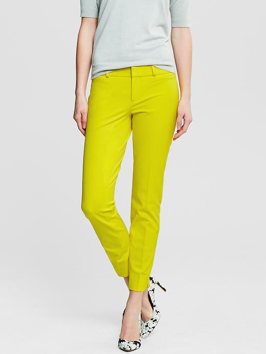 Banana Republic Sloan Fit Slim Ankle Pant - Deep neon yellow - Banana Republic Canada