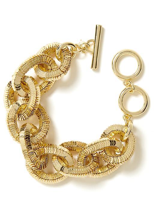Banana Republic Glimmer Glamour Link Bracelet - Gold - Banana Republic Canada