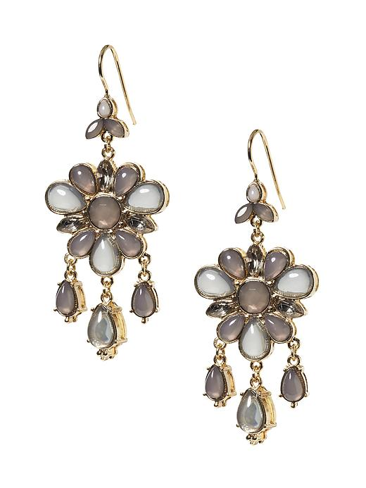 Banana Republic Statement Flower Chandelier Earring - Grey - Banana Republic Canada