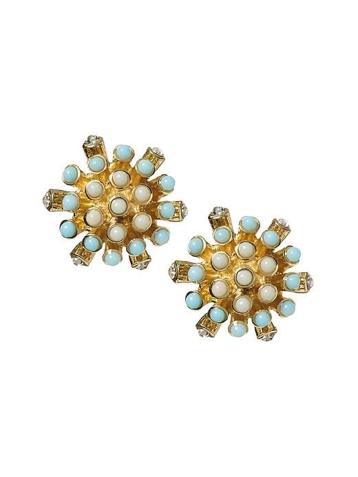 Banana Republic Aqua Stud Earring - Aqua/blue - Banana Republic Canada