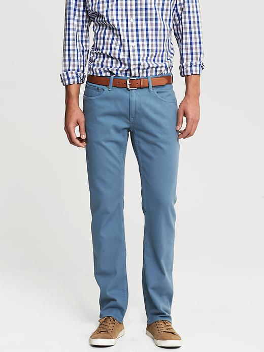 Banana Republic Vintage Straight Fit Five Pocket Pant - Blue - Banana Republic Canada