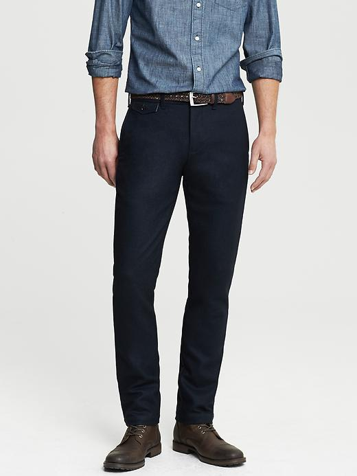 Banana Republic Heritage Flannel Pant - Blue navy - Banana Republic Canada