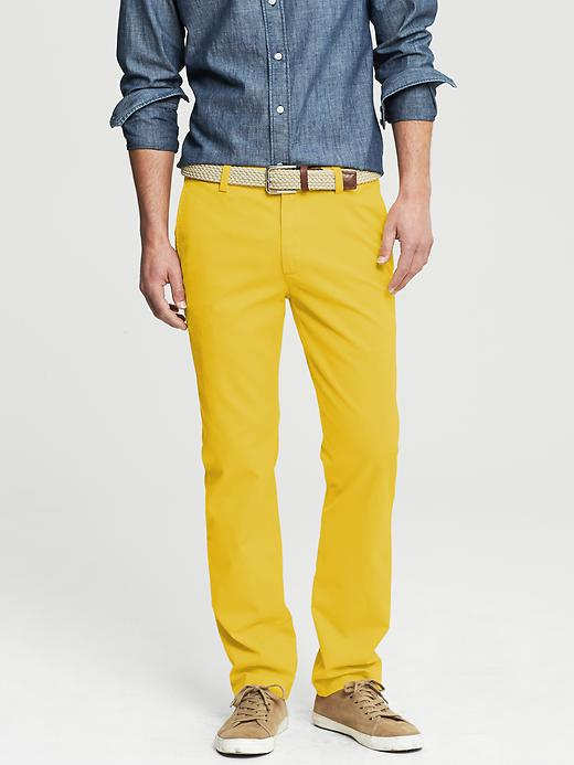 Banana Republic Aiden Slim Fit Chino - Yellow - Banana Republic Canada