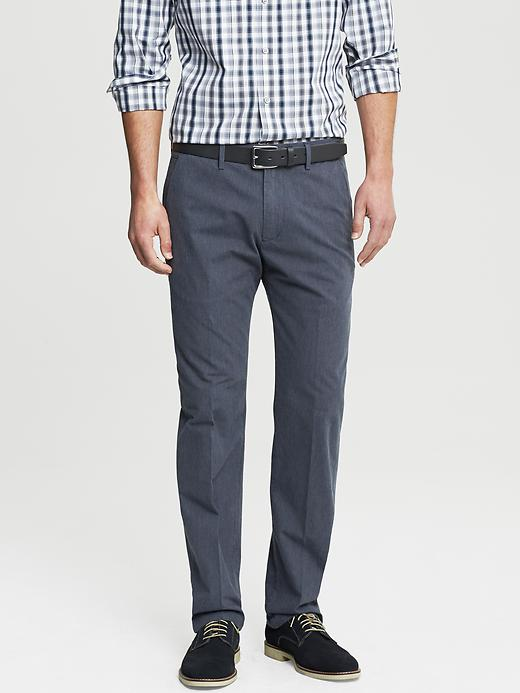 Banana Republic Kentfield Vintage Straight Fit Navy Pinstripe Cotton Pant - Navy heather - Banana Republic Canada