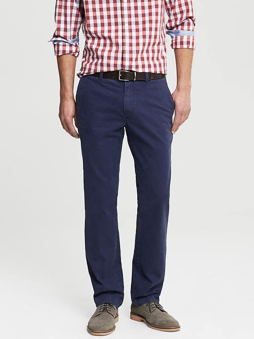 Banana Republic Aiden Slim Fit Printed Chino - Blue - Banana Republic Canada