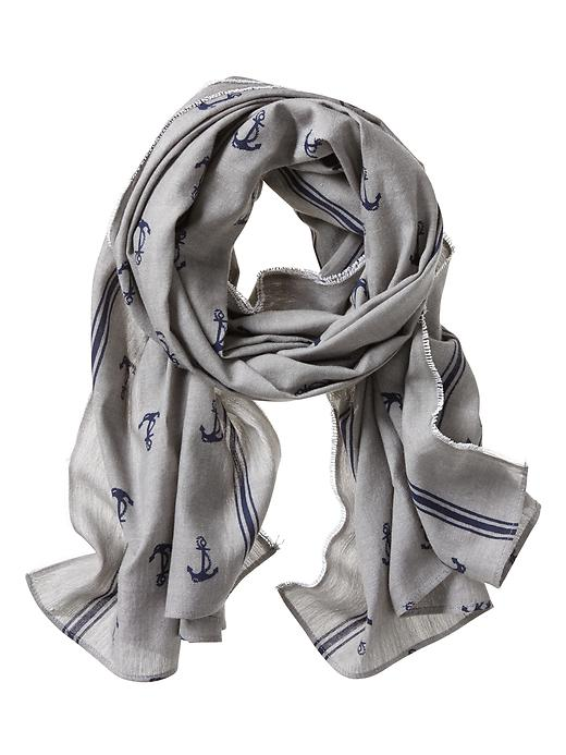 Banana Republic Anchor Scarf - Preppy navy - Banana Republic Canada