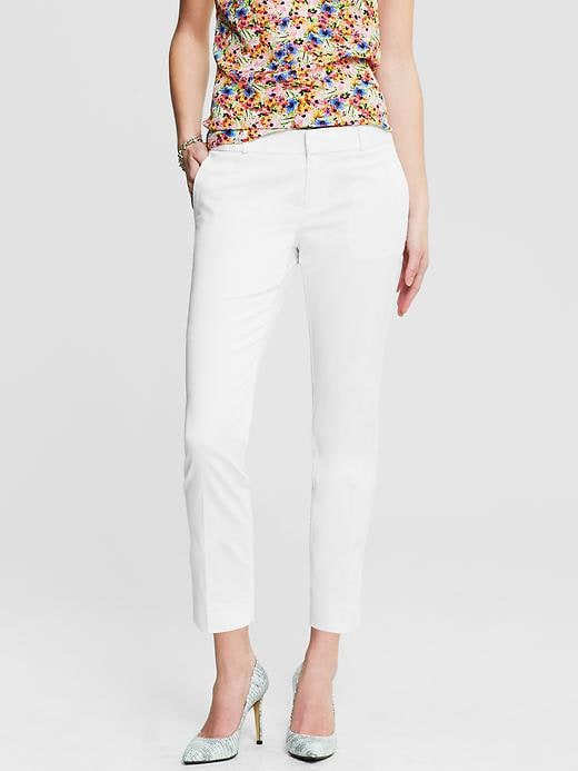 Banana Republic Hampton Fit Sateen Crop - White - Banana Republic Canada