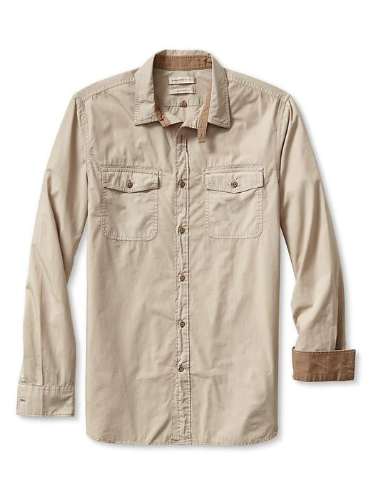 Banana Republic Heritage Utility Shirt - Fall khaki - Banana Republic Canada