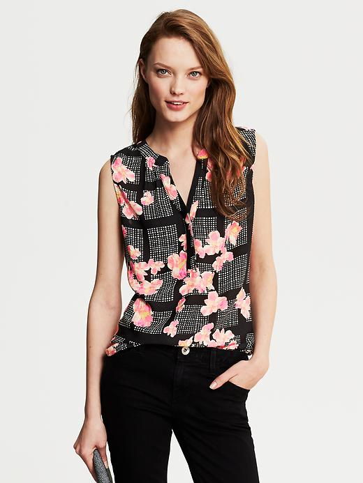 Banana Republic Bloom Print Blouse - Executive pink - Banana Republic Canada
