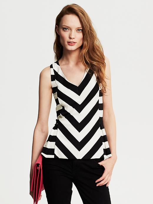 Banana Republic Chevron Stripe Peplum Top - Cocoon - Banana Republic Canada