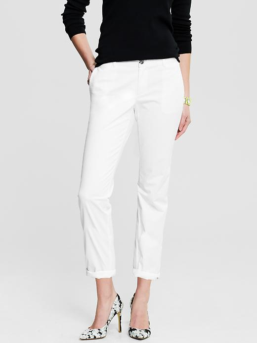 Banana Republic Roll Up City Chino - White