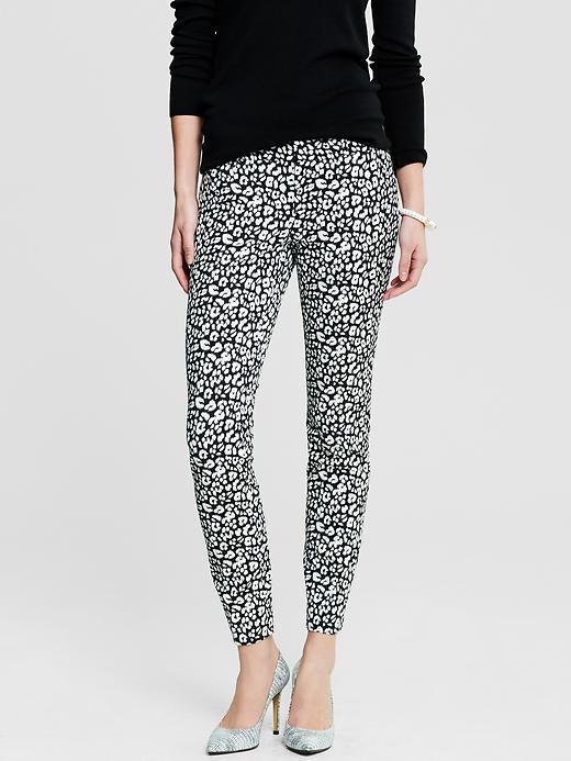 Banana Republic Sloan Fit Leopard Print Slim Ankle Pant - Leopard print - Banana Republic Canada