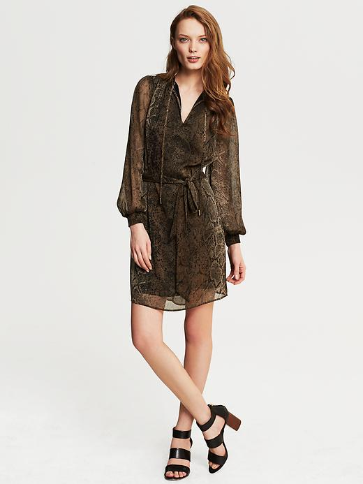 Banana Republic Heritage Snake Print Shirtdress - Coconut - Banana Republic Canada