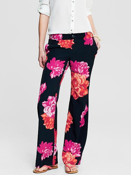 Banana Republic Bold Floral Wide Leg Pant - Pink print - Banana Republic Canada
