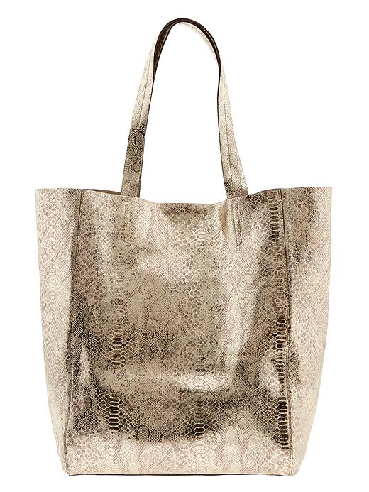 Banana Republic Ashbury Python Tote - Gold - Banana Republic Canada