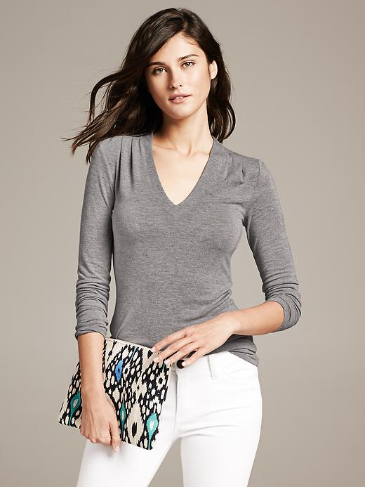 Banana Republic Bella Dream Tee - Dark charcoal - Banana Republic Canada