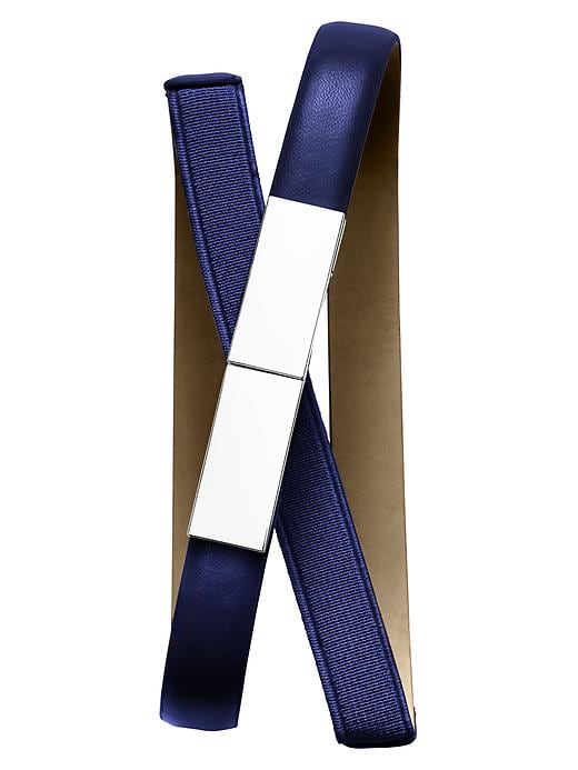 Banana Republic Plaque Stretch Skinny Belt - Royal azure - Banana Republic Canada