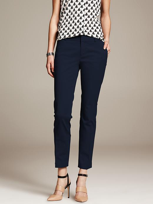 Banana Republic Hampton Fit Sateen Crop - Preppy navy - Banana Republic Canada