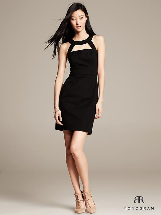 BR Monogram Ponte Cutout Dress