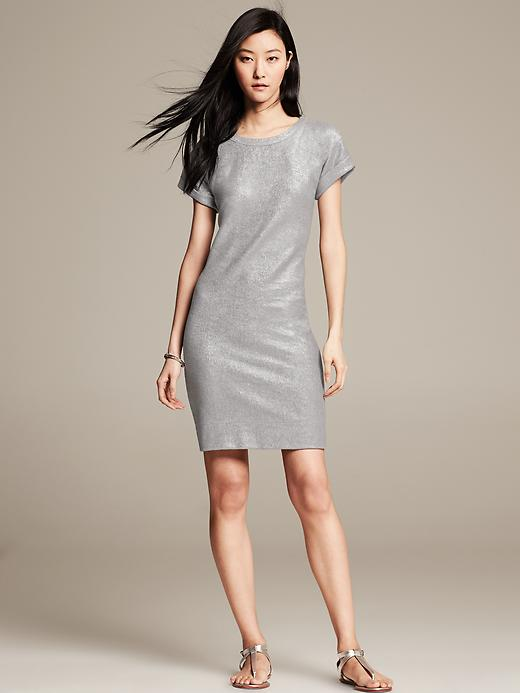 Silver Sweatshirt Dress