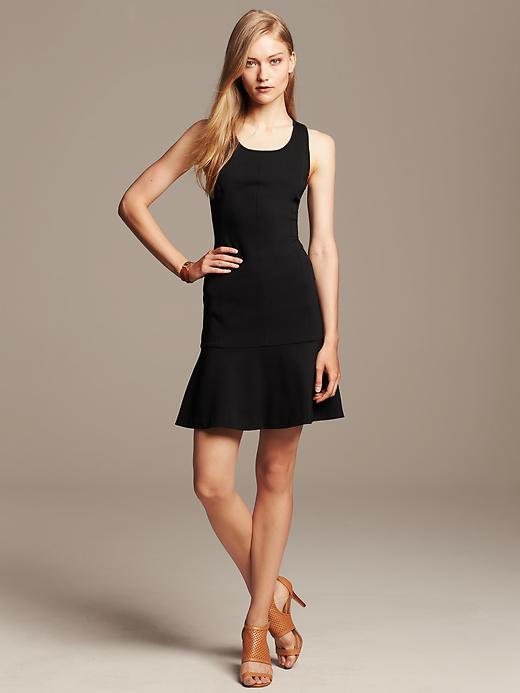 Ponte Drop-waist Dress