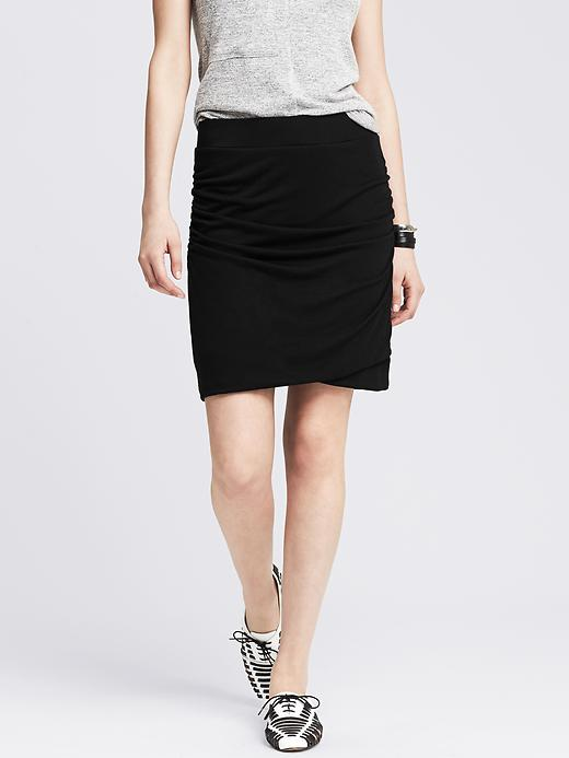 Ruched Jersey Skirt