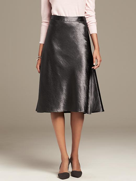 Heritage Shine Midi Skirt