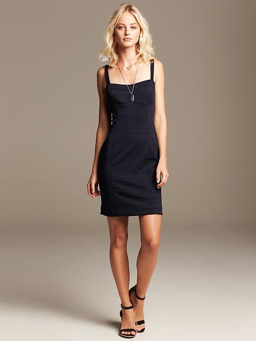 Navy Sweetheart Dress