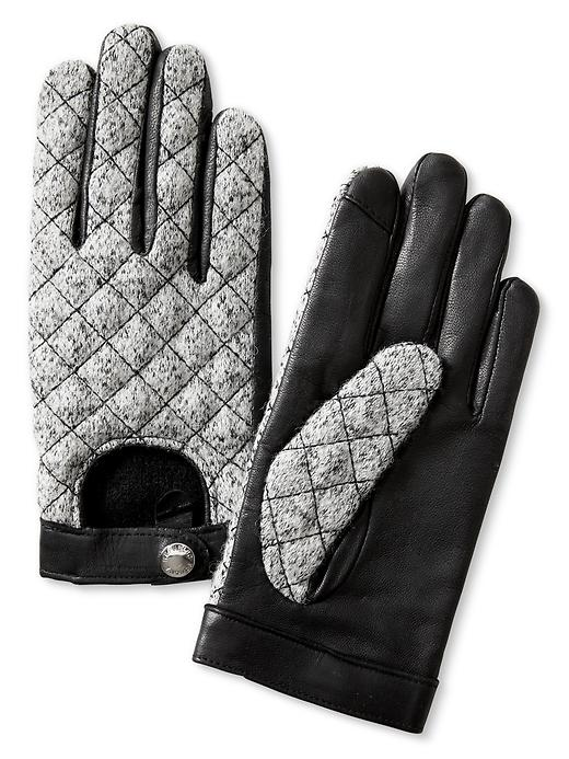 Quilted Tweed Texting Gloves