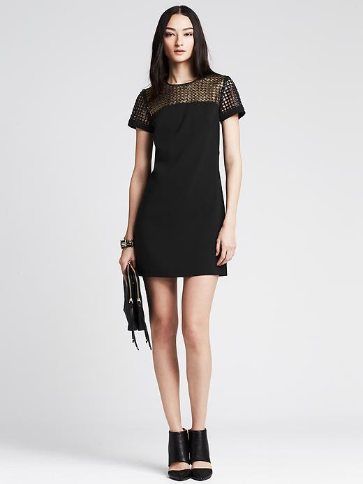 Metallic Lace Tee Dress