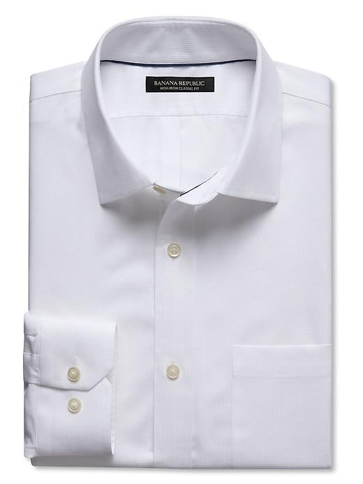 Classic-fit Non-iron White Dobby Shirt