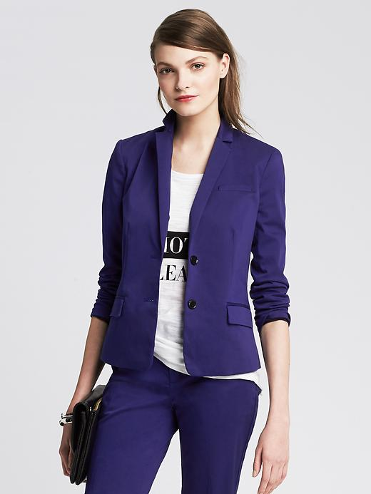 Cropped Sateen Blazer