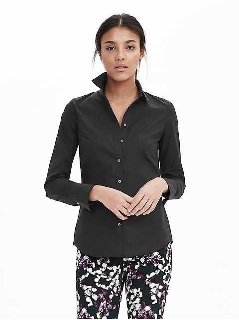 Riley-Fit Tailored Poplin Shirt