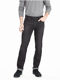 Straight Black Wash Jean
