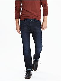 Slim Dark Wash Japanese Traveler Jean