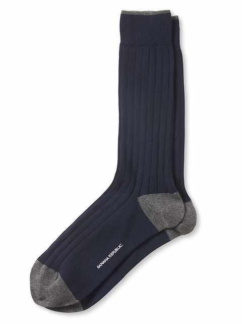 Chaussettes en tricot côtelé de luxe